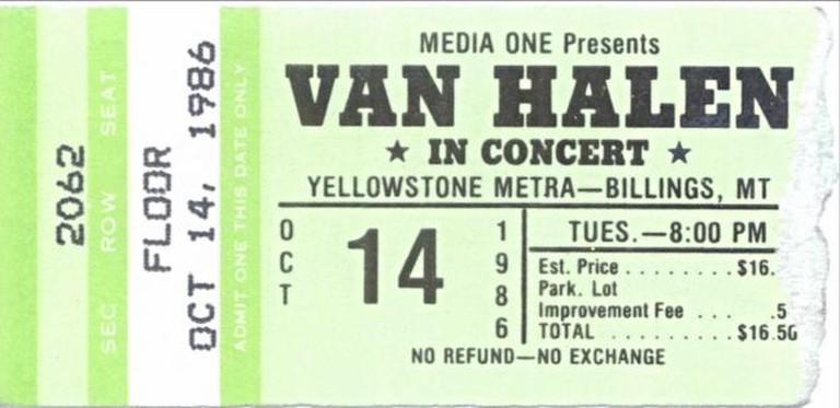 Van Halen Ticket 1986, Metra Park | ©David Schott/Flickr