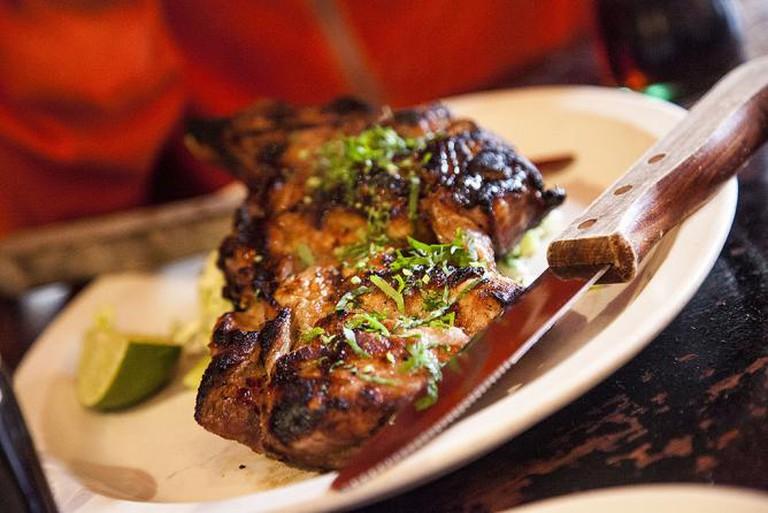 Chicken Tostada at Don Pisto's in San Francisco, CA | © Foodspotting, LLC.