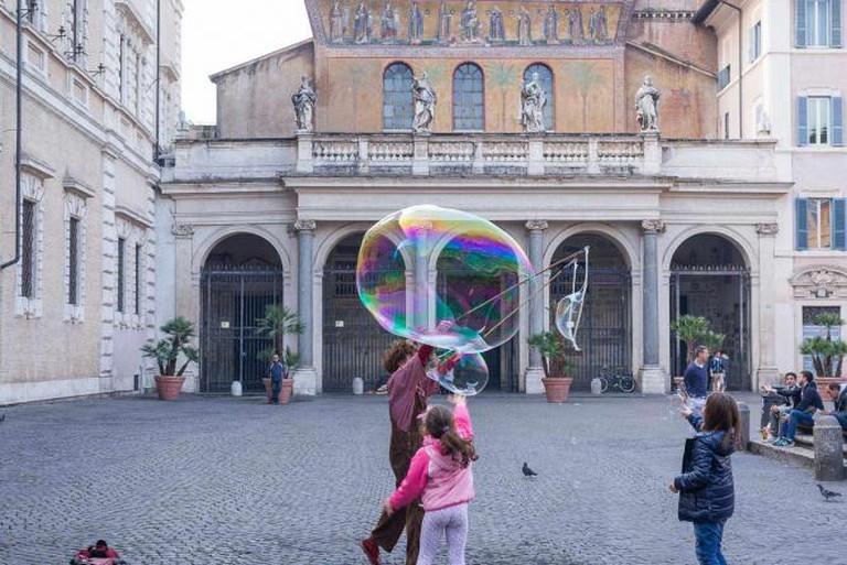 The main square in Trastevere