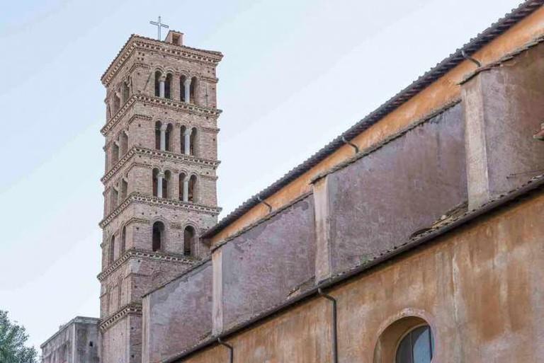 Architecture details of Santa Sabina Basilica