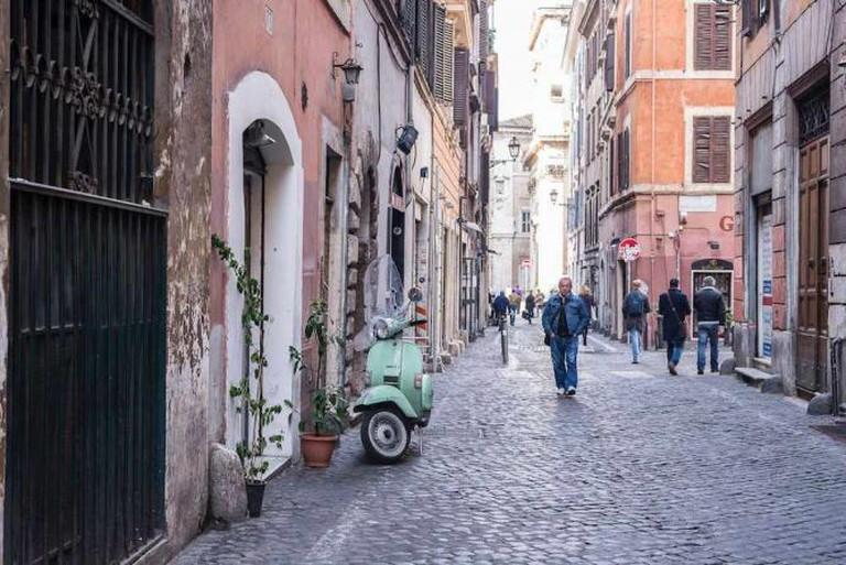 A street scene in Monti
