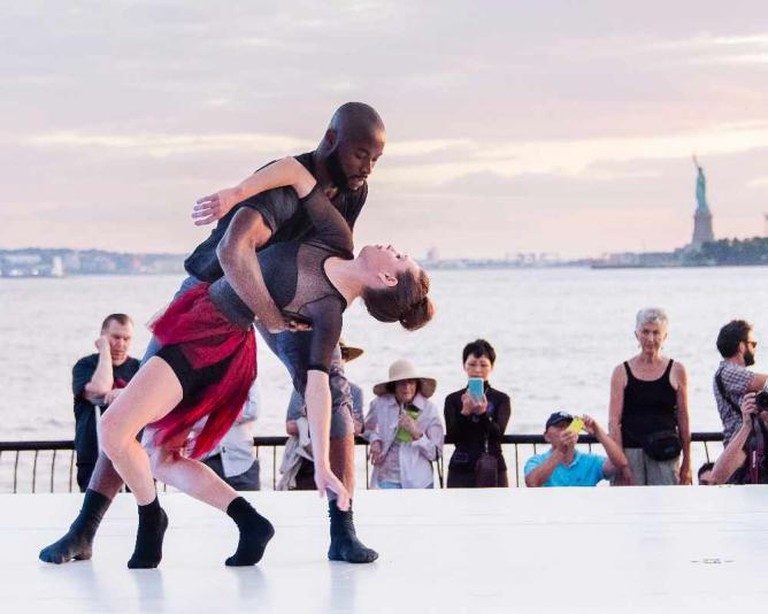 Clement Mensah and Mira Cook; Battery Dance Company | Photo © Darial Sneed