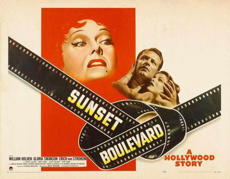 A promotional poster for Sunset Boulevard