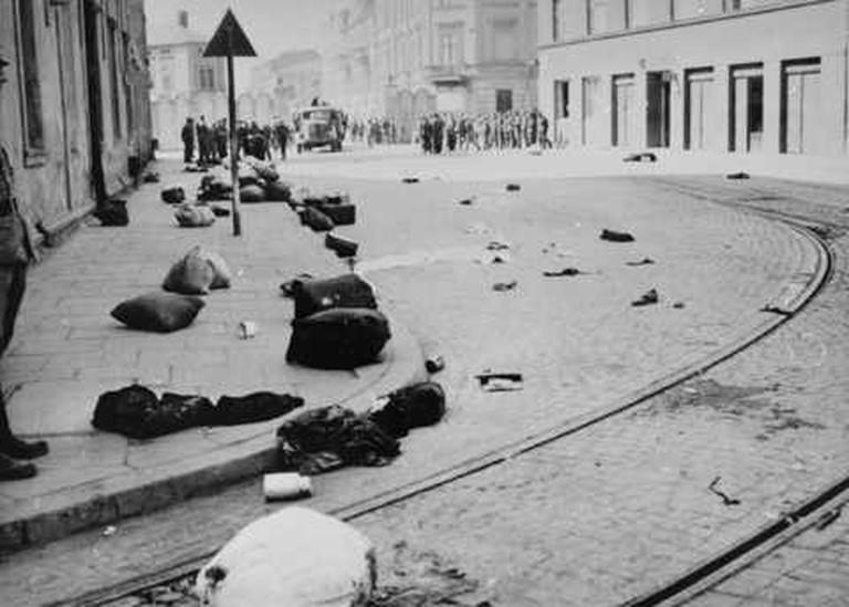 The liquidation of the Kraków Ghetto | ©Muu-karhu/ WikiCommons
