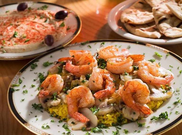 Shrimp scampi | Courtesy The Mediterranean Café
