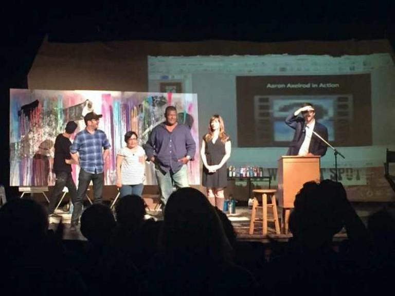Bamboozled (from left to right: Aaron Axelrod, J. Ryan Stradal, Naomi Hirahara, Gary Phillips, Jilian Lauren, and Rico Gagliano)