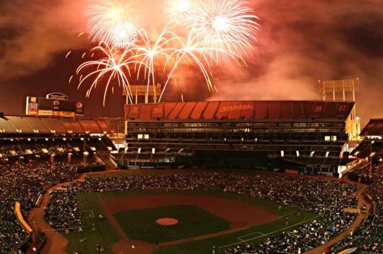 Oakland A's Fireworks   ©PistolsDrawn/flickr