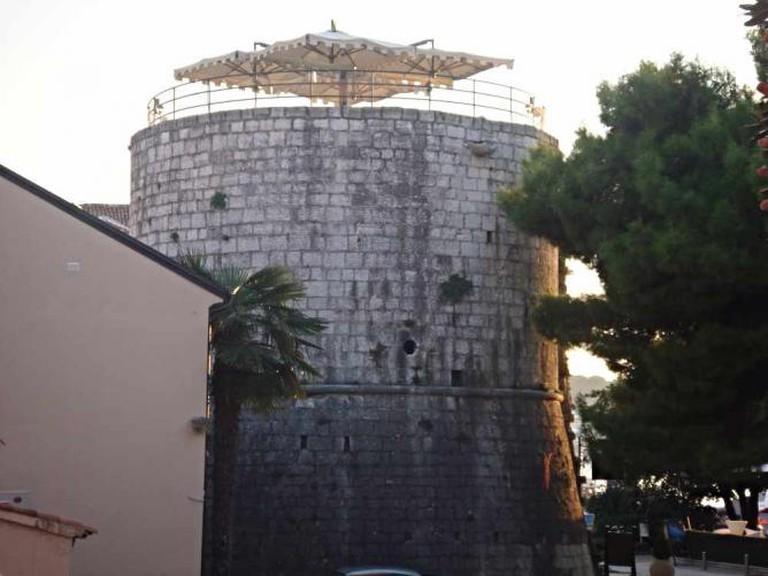 Enjoy drinks atop Torre Rotonda.