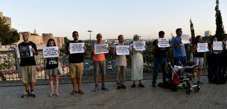 Vegan-led protest in Jerusalem | © Arielle Macey-Pilcher