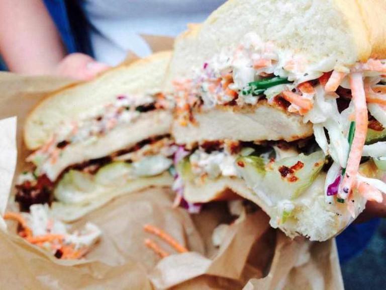 Fried Chicken Sandwich   3-Sum Eats