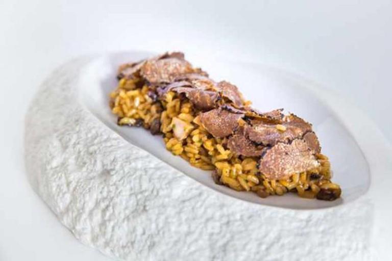 Rice with truffles | Image courtesy pf La Forquilla