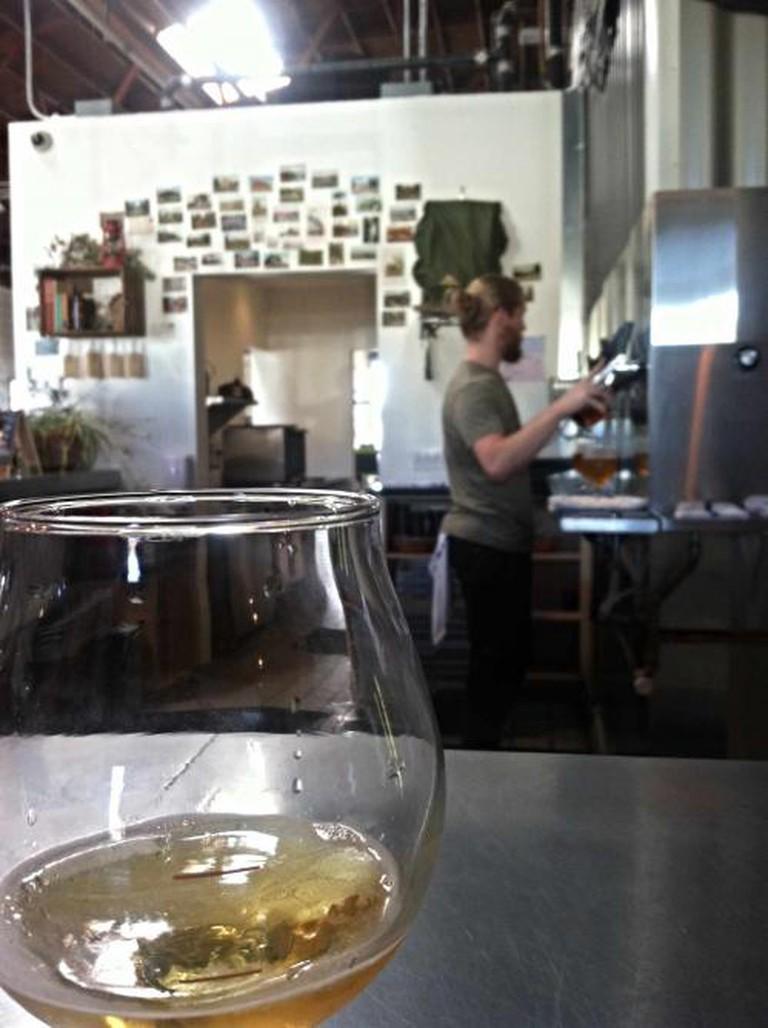 Alex Tweet at Fieldwork Brewing Co.| © Matthew Strebe