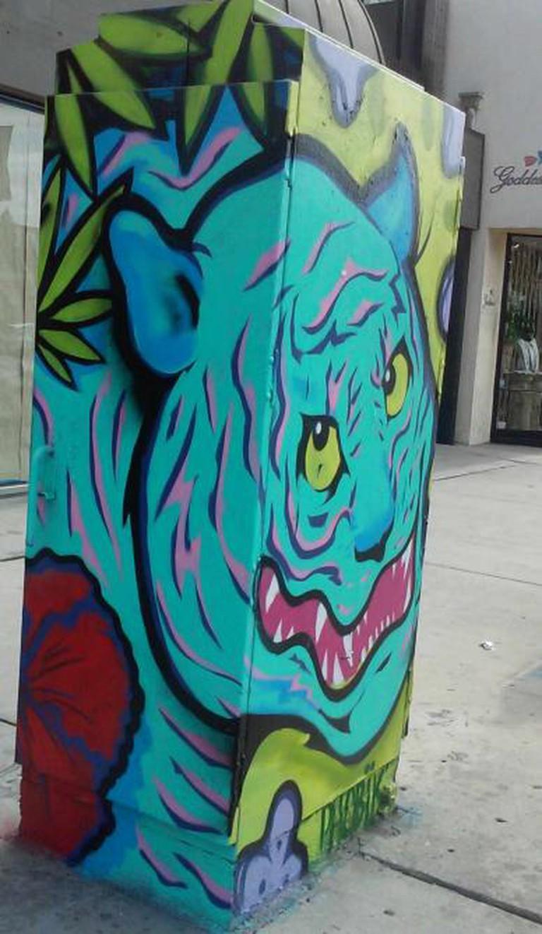 Street art: Monster figure by unidentified artist; Photo © Marie Cradle