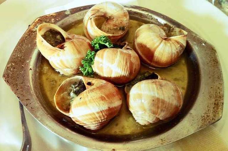 escargot at Le Grainne Café