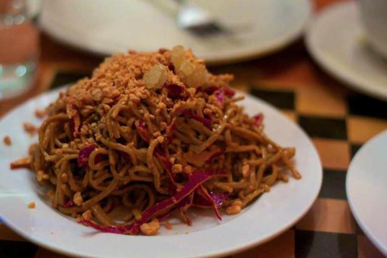 A vegetarian soba noodle dish