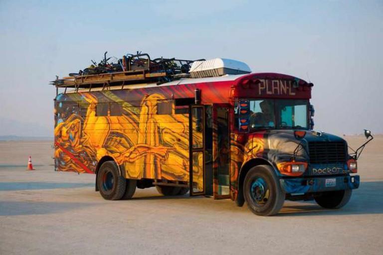Burning Man 2013: Cargo Cult Bus l © BLM Nevada/flickr