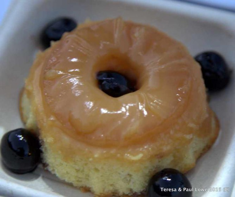 Agave roasted upside down cake completes your dinner new at The Hollywood Bowl