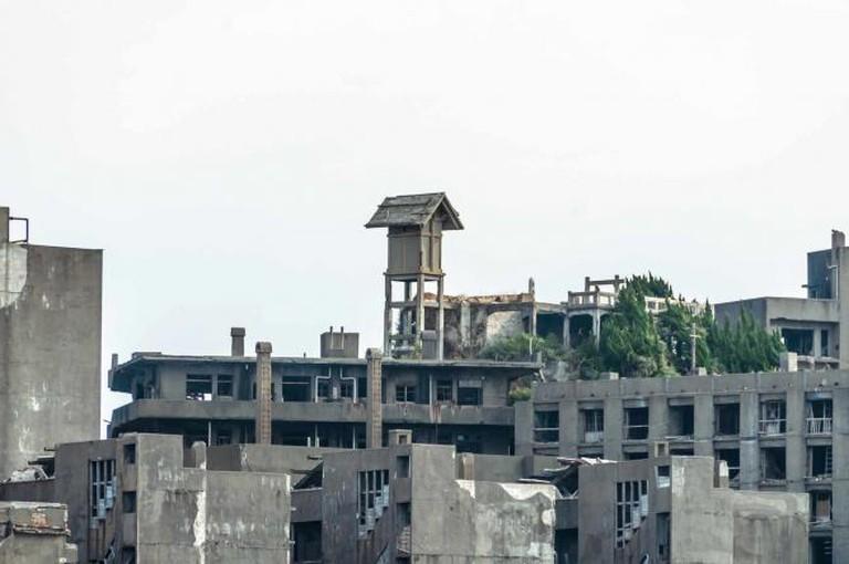 Abandoned Buildings on Hashima Island   © waka/ Flickr