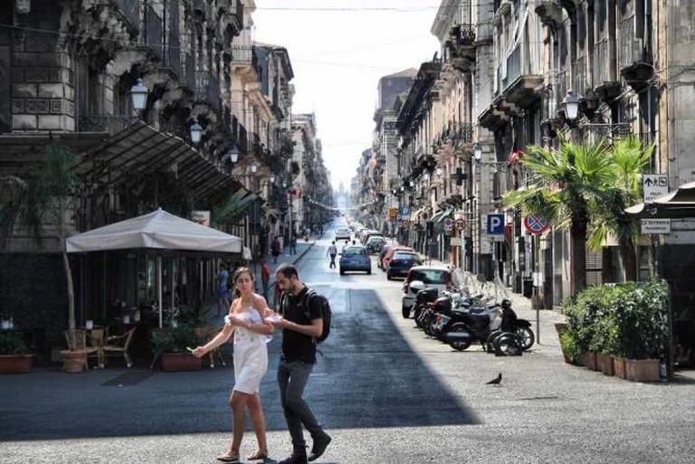 A street in Catania