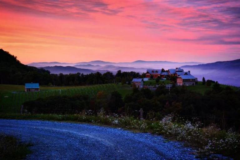 Banner Elk Winery from the upper vineyard | © salliejw, courtesy of Banner Elk Winery
