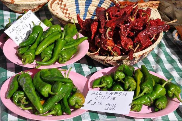 Chiles at Santa Fe Farmers Market   © Paul Asman and Jill Lenoble/Flickr