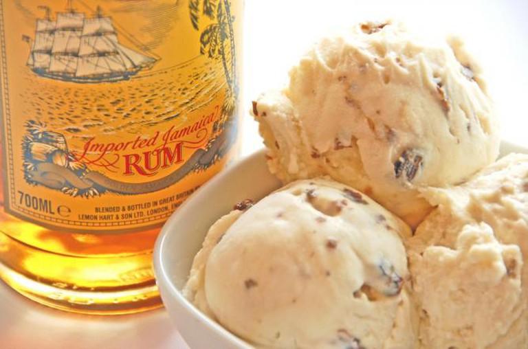 Rum rum raisin ice cream | © Courtesy of Udders