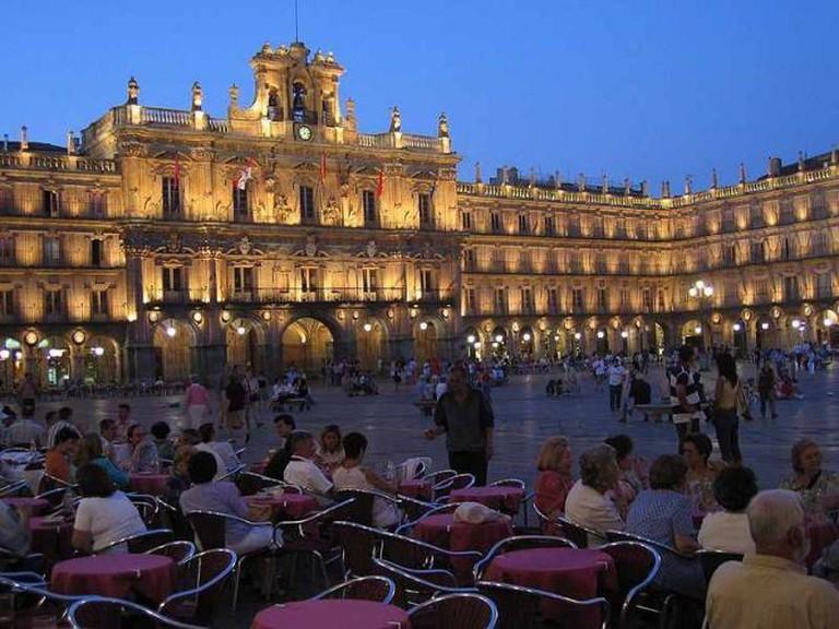 Salamanca's bustling Plaza Mayor | © M.Stallbaum/WikiCommons