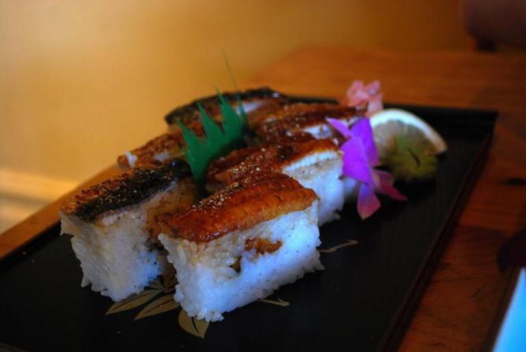 Anago Hako Pressed Sushi l © Alpha/Flickr