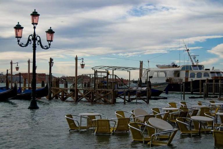High water at San Marko Square, Venice   © Tatiana Kormina/WikiCommons
