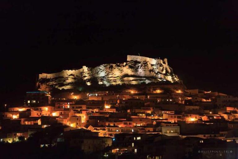 Castelsardo at night