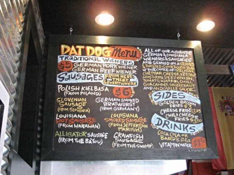 Dat Dog menu | © Infrogmation of New Orleans/Flickr