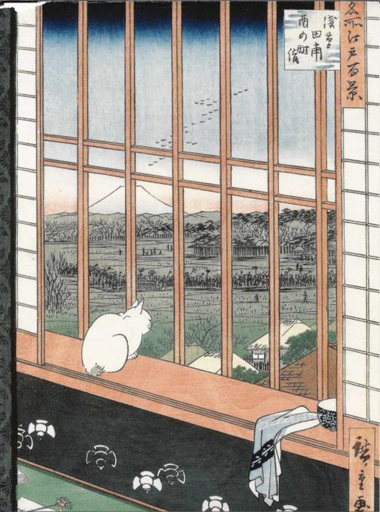 Utagawa Hiroshige's Cat in a Window