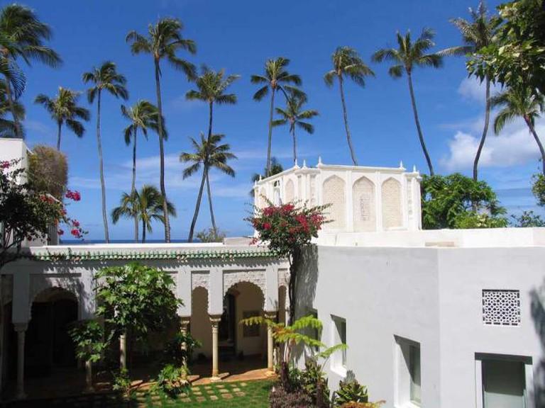 Shangri La courtyard in Honolulu