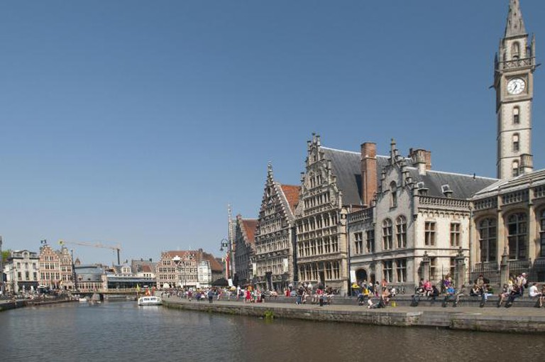 Ghent, at Leie River banks l © Michal Osmenda/WikiCommons
