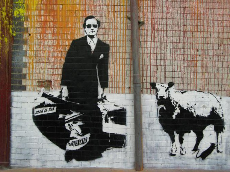 The Man Who Walks Through Walls by Blek le Rat, London | © Eric Lin/WikiCommons