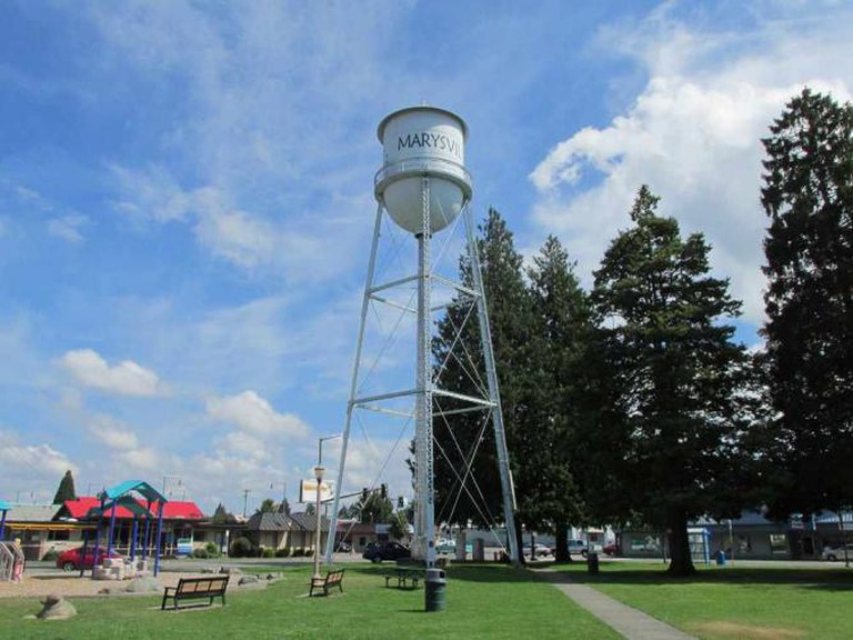 Water tower in Marysville, WA | © Robert Ashworth/Flickr