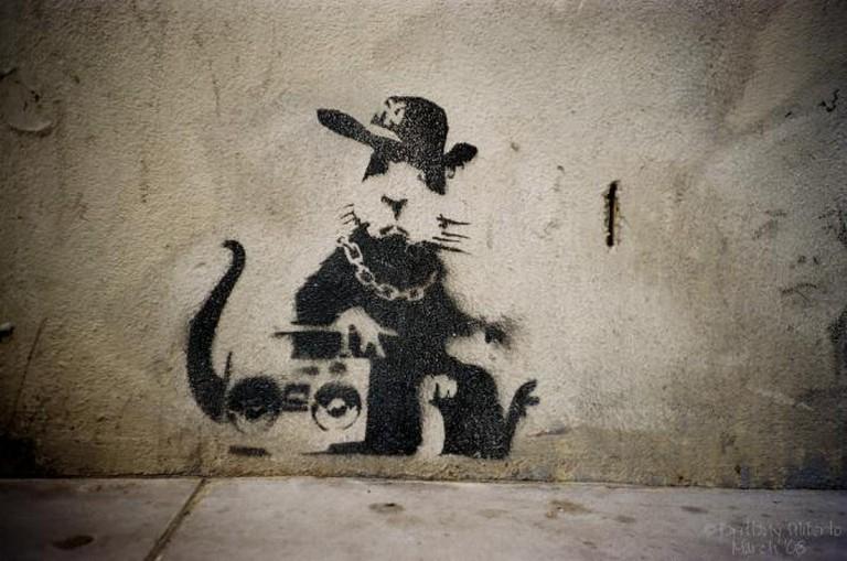 Hip Hop Rat by Banksy | © Tim Fuller/Flickr