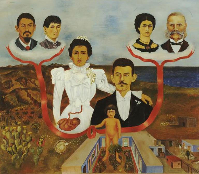 My Grandparents, My Parents and I (Family Tree), Frida Kahlo   © libby rosof/Flickr
