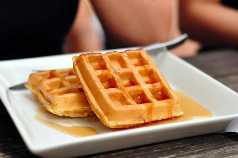 Belgian waffles at Bar Bar Black Sheep   © Soh Shu Hui/Flickr