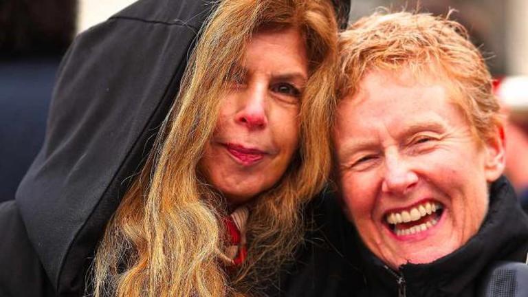 Marie Howe (left) © Patrick Rosal/Flickr