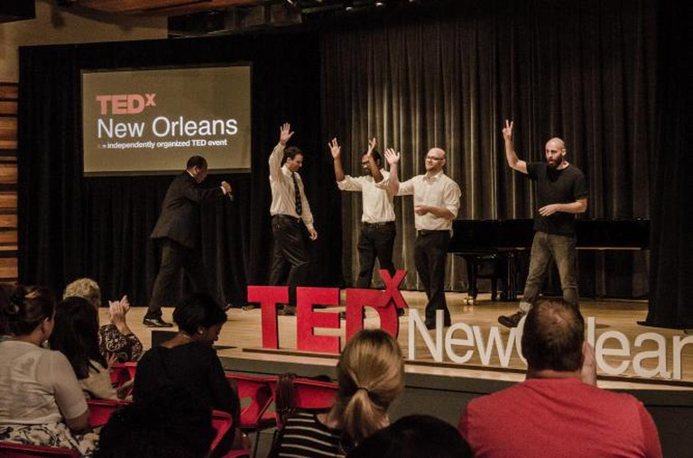 La Nuit Comedy Theater troupe performs at TEDxNewOrleans | © TEDx NewOrleans/Flickr