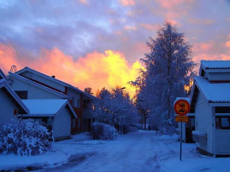 A Finnish town in winter  © Sarari1123/pixabay
