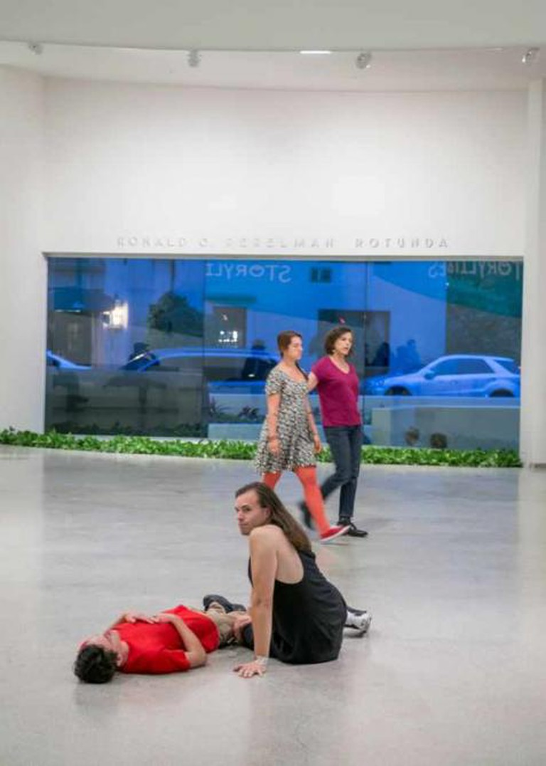 Timelining, 2014  Performance, edition 1/5. Solomon R. Guggenheim Museum, New York, Purchased   with funds contributed by the Young Collectors Council, with additional funds   contributed by Josh Elkes, Sarah Stengel, and Younghee Kim-Wait 2014.75 © Gerard &   Kelly