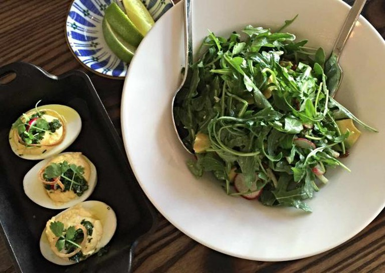 Deviled Eggs with the Market Salad   © Jacqueline Torgerson