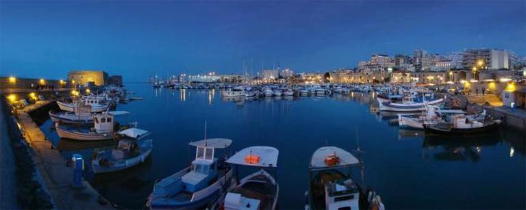 Panoramic view of the old harbor of Heraklion | © Tango7174/WikiCommons