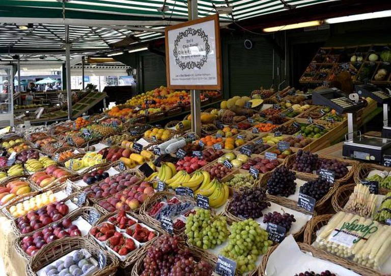 Fruits and vegetables in Viktualienmarkt | © High Contrast/WikiCommons