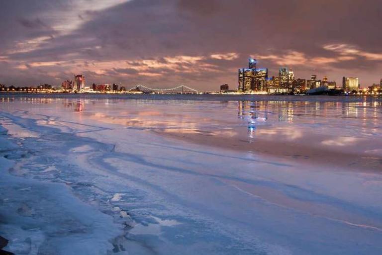 Detroit at Dusk   © Moon Man Mike/Flickr