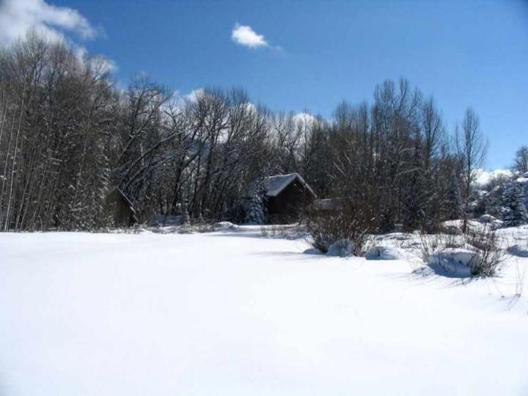 Hallam Lake in winter