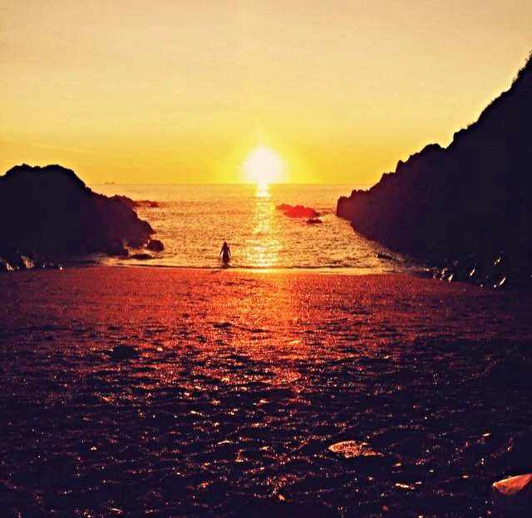 Sunset Swimming at Barricaine