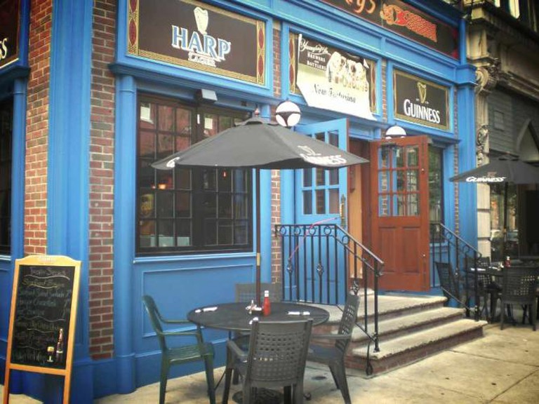 The outside of Moriarty's pub on Walnut St in Midtown Village, Philadelphia.